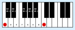 ギター ピアノ 全音半音