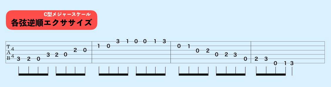 ギター Cメジャースケール