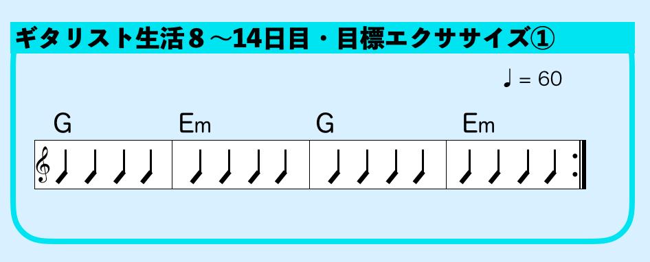 ギター G Em コードチェンジ