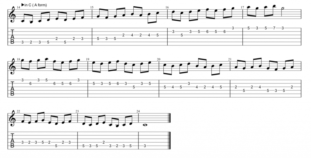 ギター スケール エクササイズ